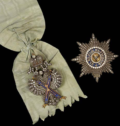 antique Russian badge and star