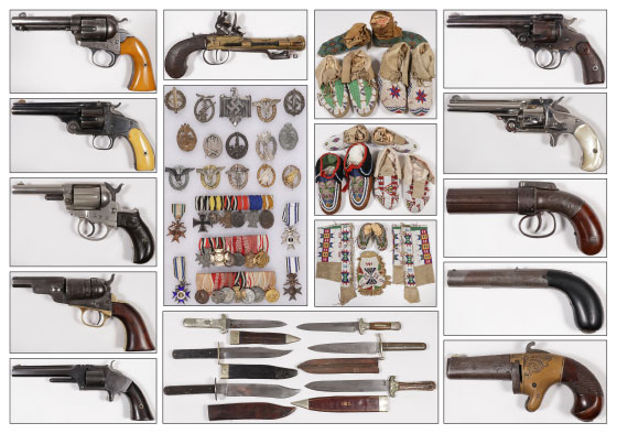 Native American and Militaria auction